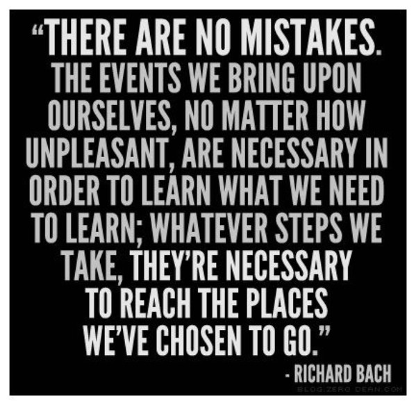 Richard Bach on Mistakes