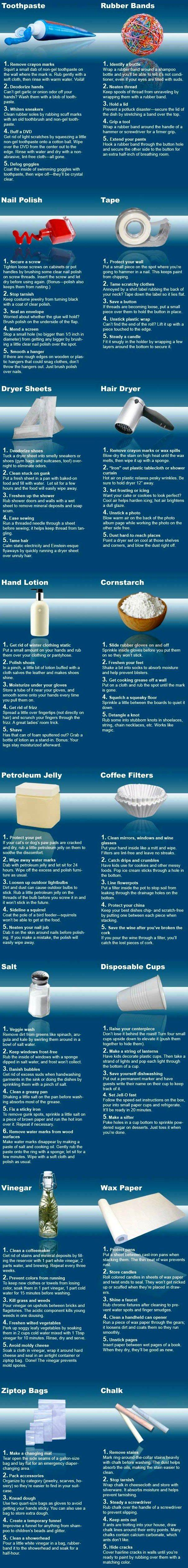 Awesome Life Hacks of Common Household Items