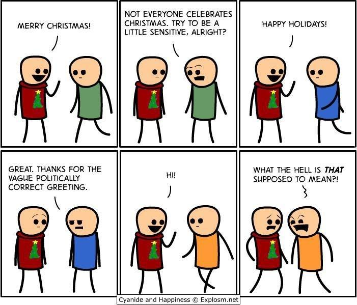 How I feel about Christmas greetings