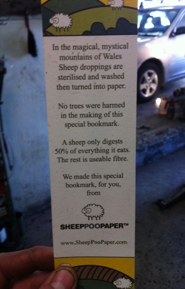 Sheep Poop Bookmark