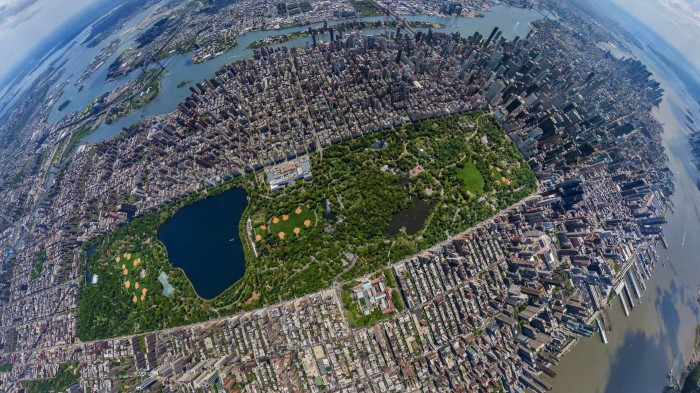 Central Park from 2500ft