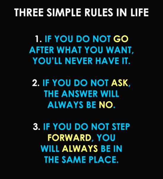 The Three Simple Rules Of Life