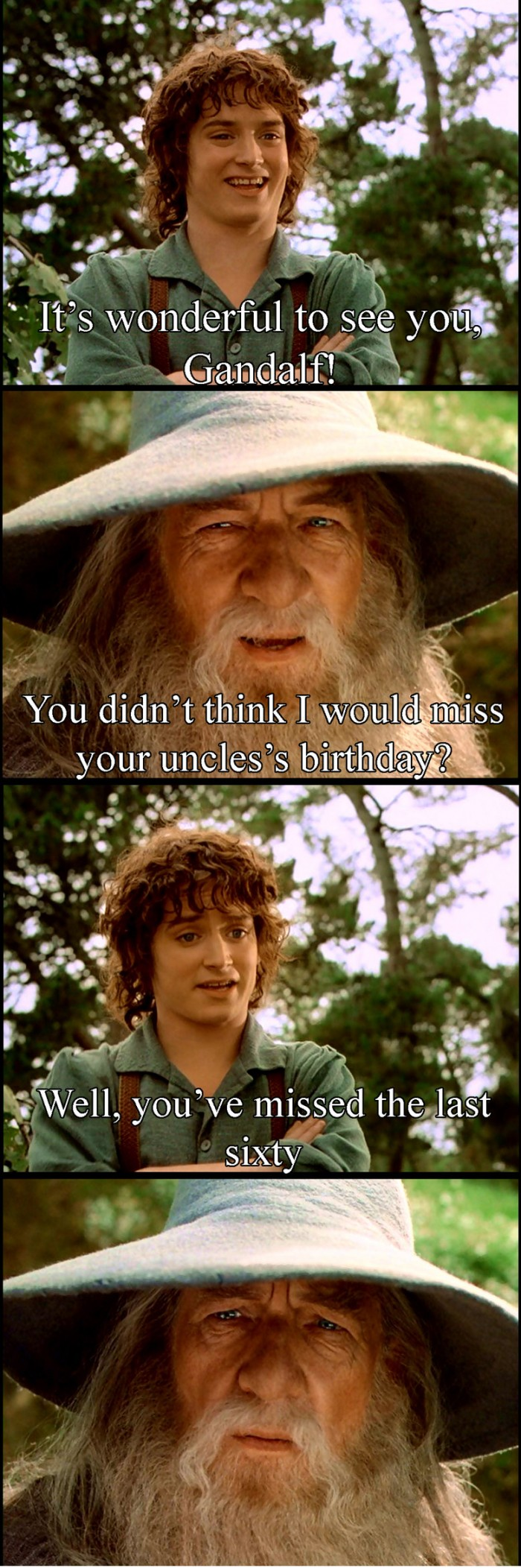 Gandalf is a Bad Friend