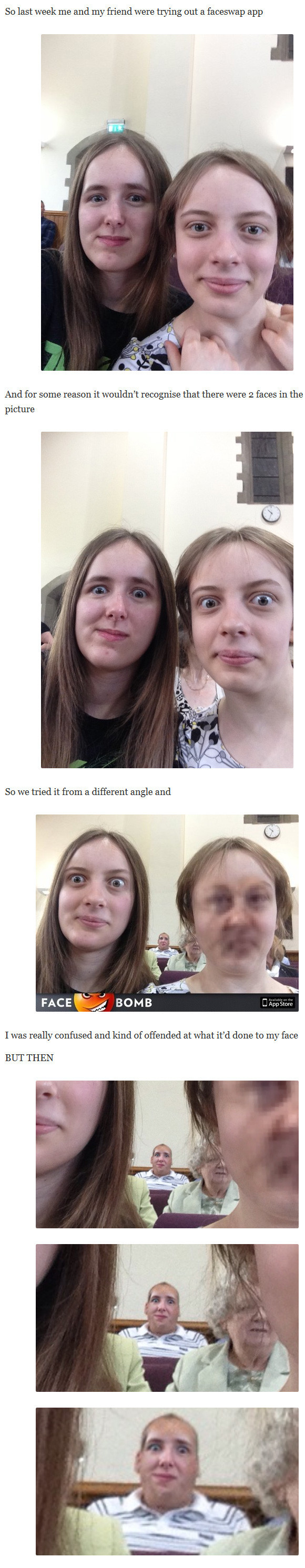 So Last Week Me and My Friend Tried Out a Faceswap App