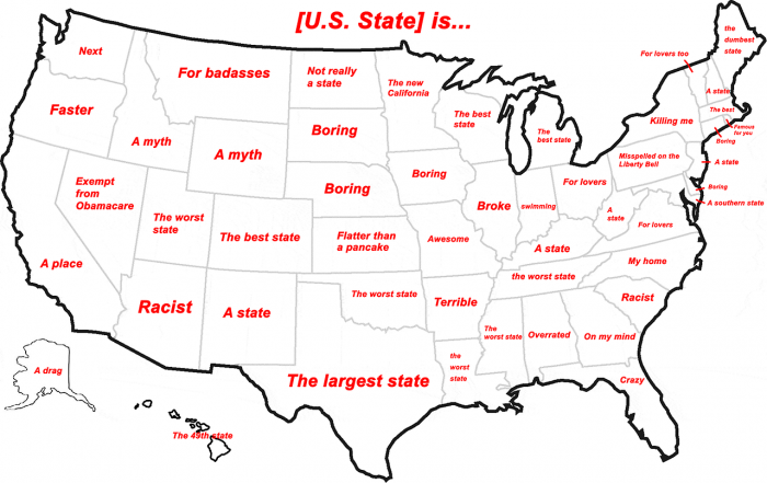 What we think of every state.