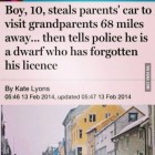 He must have really wanted to see his grandparents