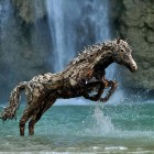 Magnificent Driftwood Horse