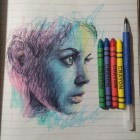 cool-crayon-drawing-woman-pen-supplies