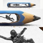 funny-pencil-lead-sculpture-astronaut
