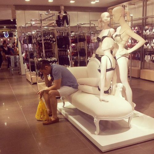 Men Shopping With Their Ladies  03