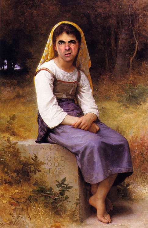 Mr. Bean Inserted Into Famous Portrait Paintings 02