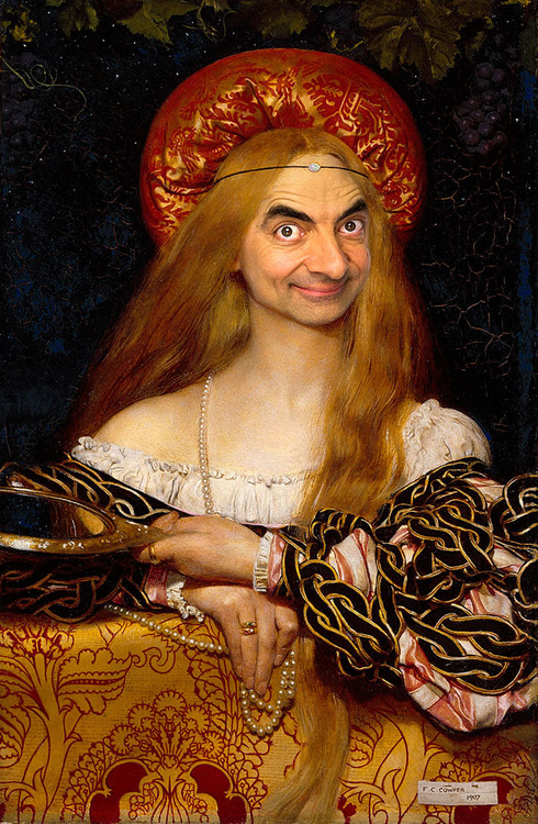 Mr. Bean Inserted Into Famous Portrait Paintings 04