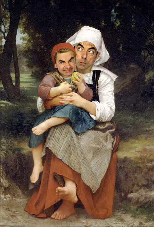 Mr. Bean Inserted Into Famous Portrait Paintings 06