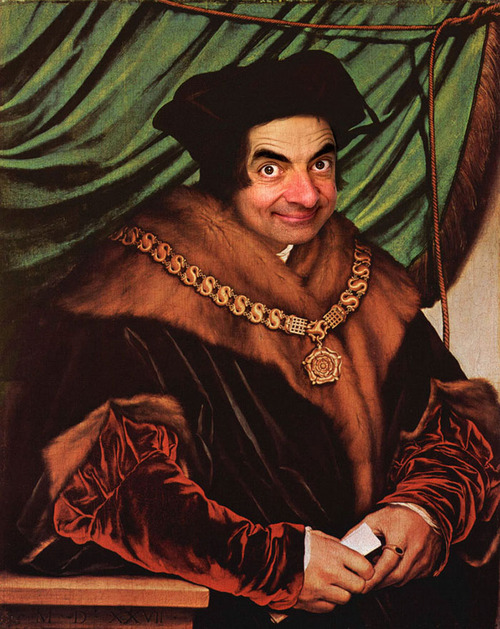Mr. Bean Inserted Into Famous Portrait Paintings 07