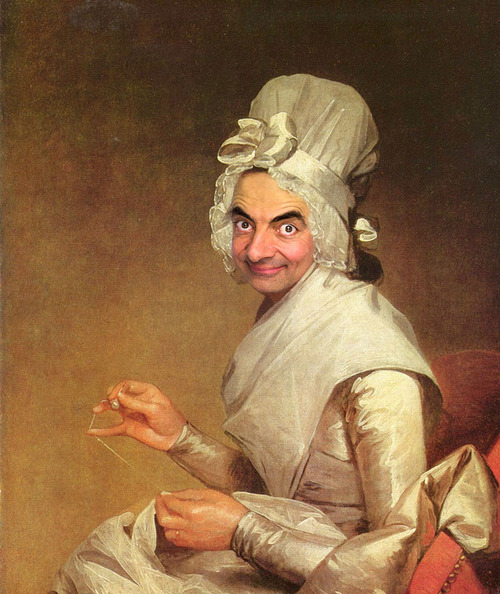 Mr. Bean Inserted Into Famous Portrait Paintings 08