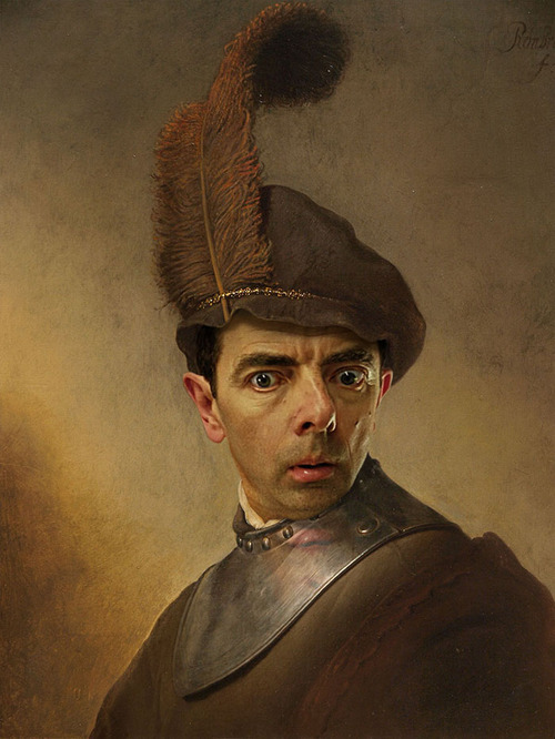 Mr. Bean Inserted Into Famous Portrait Paintings 09