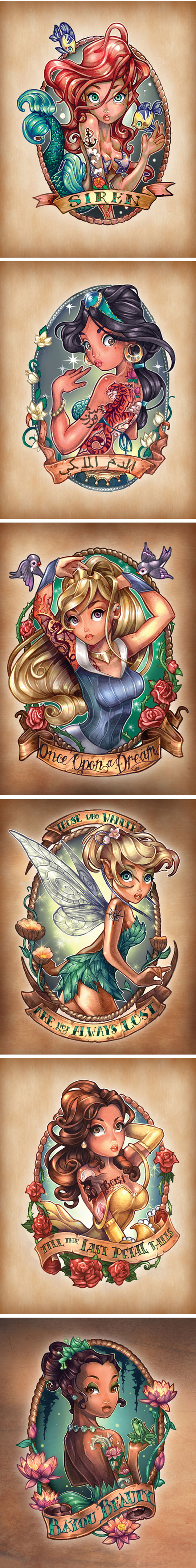 cool-Disney-Princesses-tattoo-cartoon
