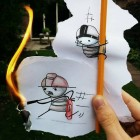 funny-drawing-paper-pencil-fire