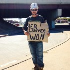 funny-homeless-man-sign-lawyer-divorce
