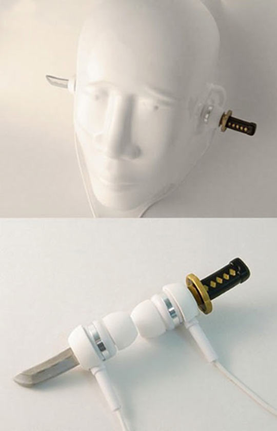 Samurai Sword Earphones