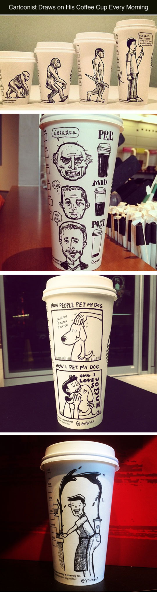 Drawing A Coffee Cup Every Morning