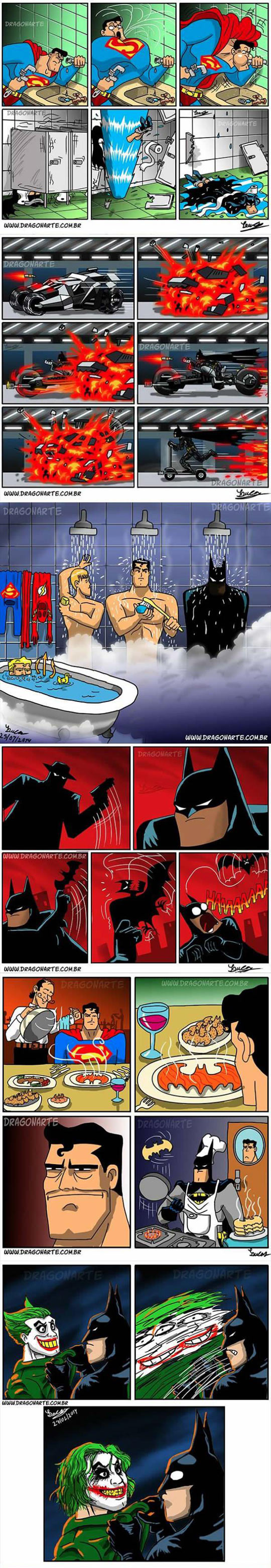 funny-Batman-Superman-comic-collection