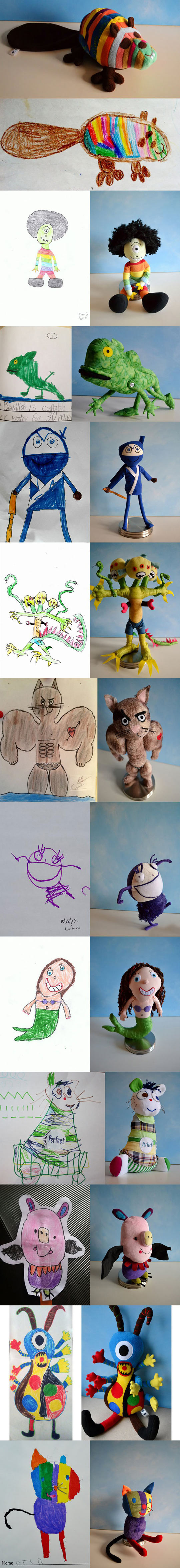 funny-kids-drawing-made-plush-toys