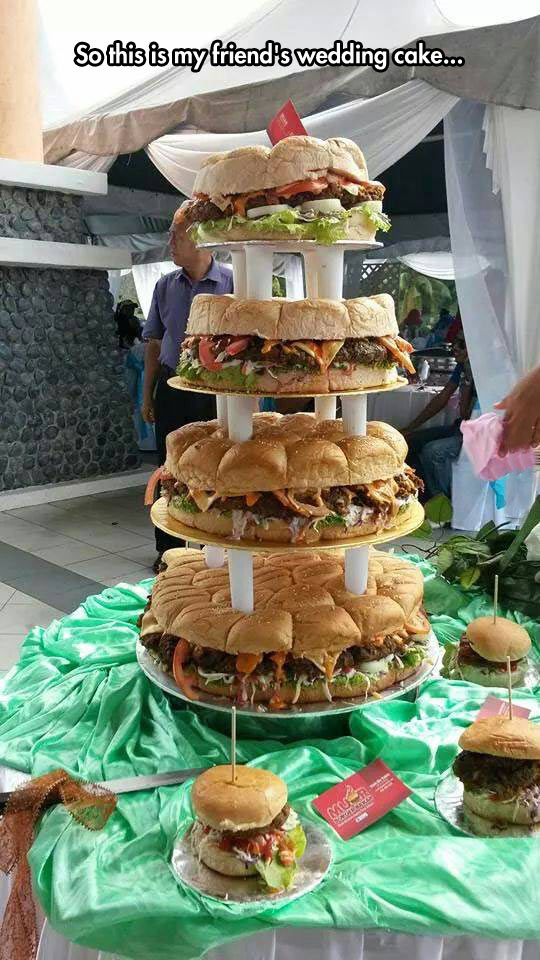 Wedding Cake Burger Giant
